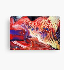 Flowing Acrylic Colours Canvas Print