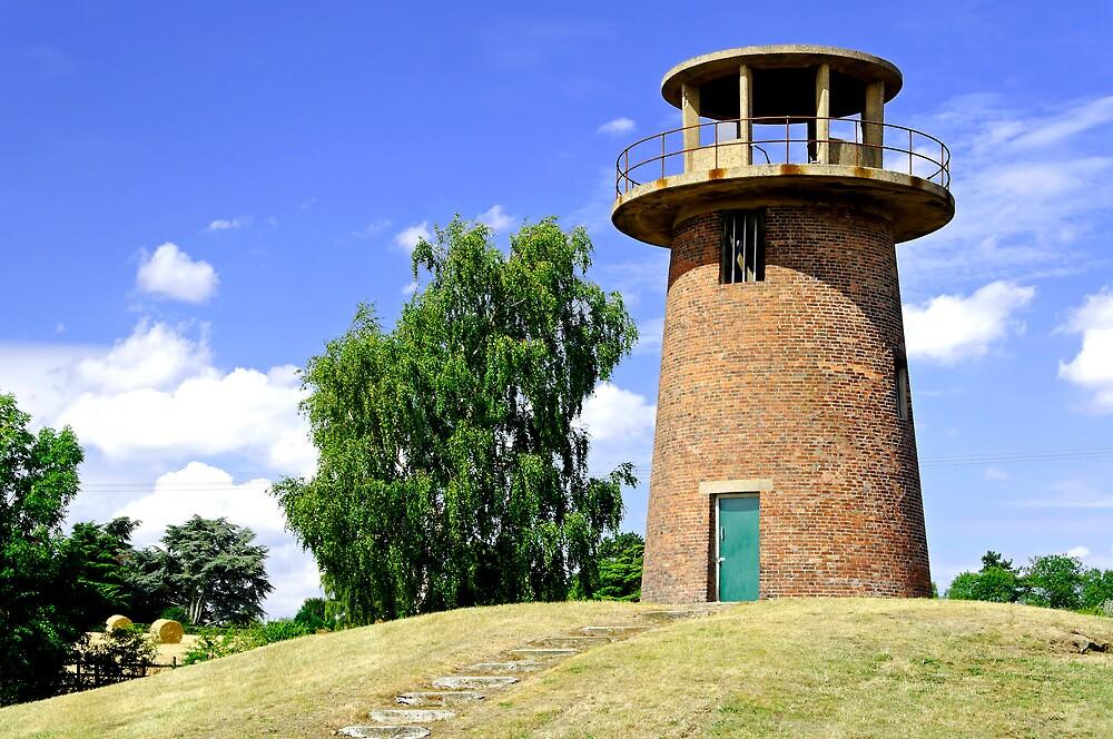 Tower Windmill at Staunton Harold Reservoir by Rod Johnson