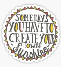 Create Your Own Sunshine Quote Sticker