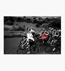 London Surrey Classic climbs Box Hill Photographic Print