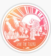 Save the Tigers! Sticker