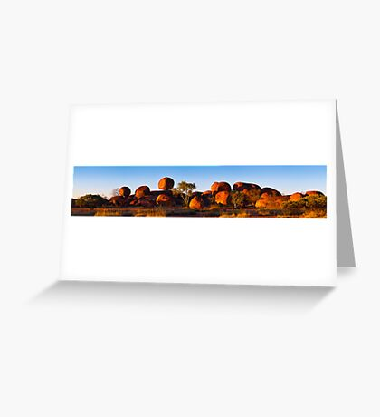 Devil's Marbles Panorama Greeting Card