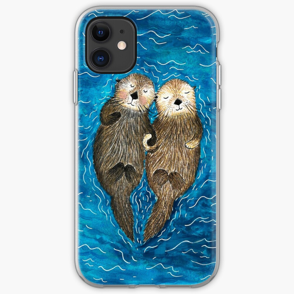 Sea Otters Holding Hands iPhone Case & Cover
