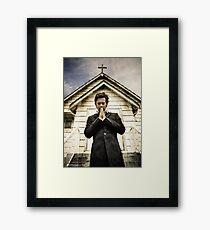 Baltar Repents [Preacher] James Callis Framed Print
