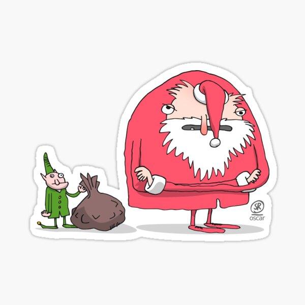 Weihnachtsmann sauer Sticker