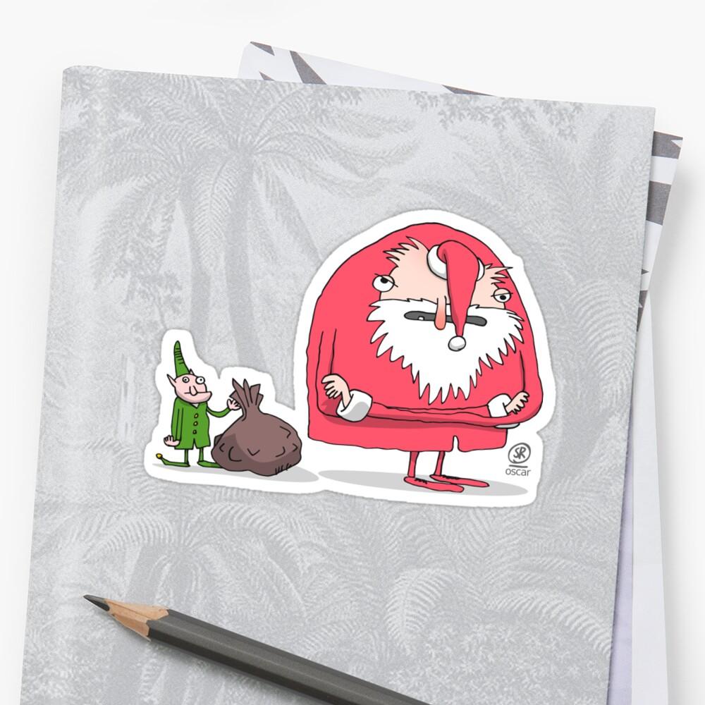 Santa Claus pissed off Sticker