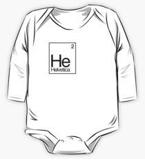 Helvetica: It's Elemental my dear Watson* One Piece - Long Sleeve