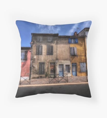 Dwellings of Carcassonne Throw Pillow