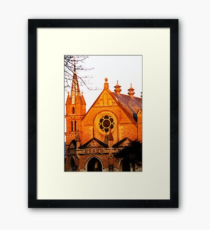Church at sunset  Framed Print