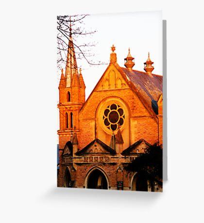 Church at sunset  Greeting Card