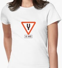 Tuning Fork - Music Tee Womens Fitted T-Shirt
