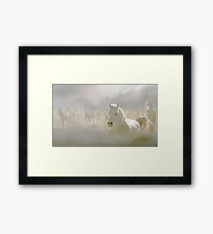 Horses Run 2 Framed Print