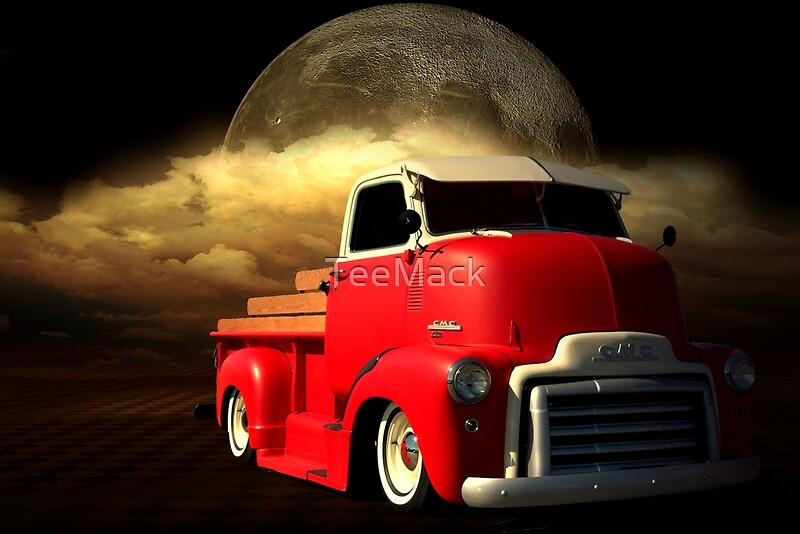 """Pickup Truck Covers >> """"1949 GMC Cab Over Truck"""" by TeeMack   Redbubble"""
