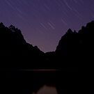 Star Trails Over The Grand Teton Group by A.M. Ruttle