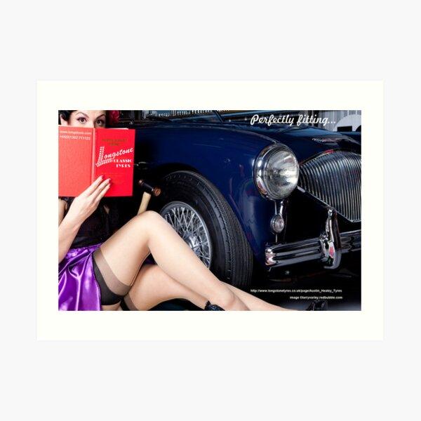 Healey Girl - Longstone Tyres Art Print