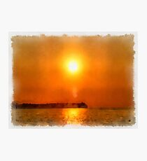 Sunset Thousand Islands Indonesia Photographic Print