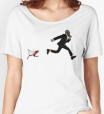 Leroy Having To Deal With The Unexpected Return Of That Dreaded No Good Evil Zombie Chicken Women's Relaxed Fit T-Shirt