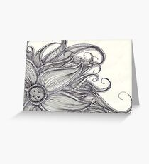 Sewing Flower Greeting Card