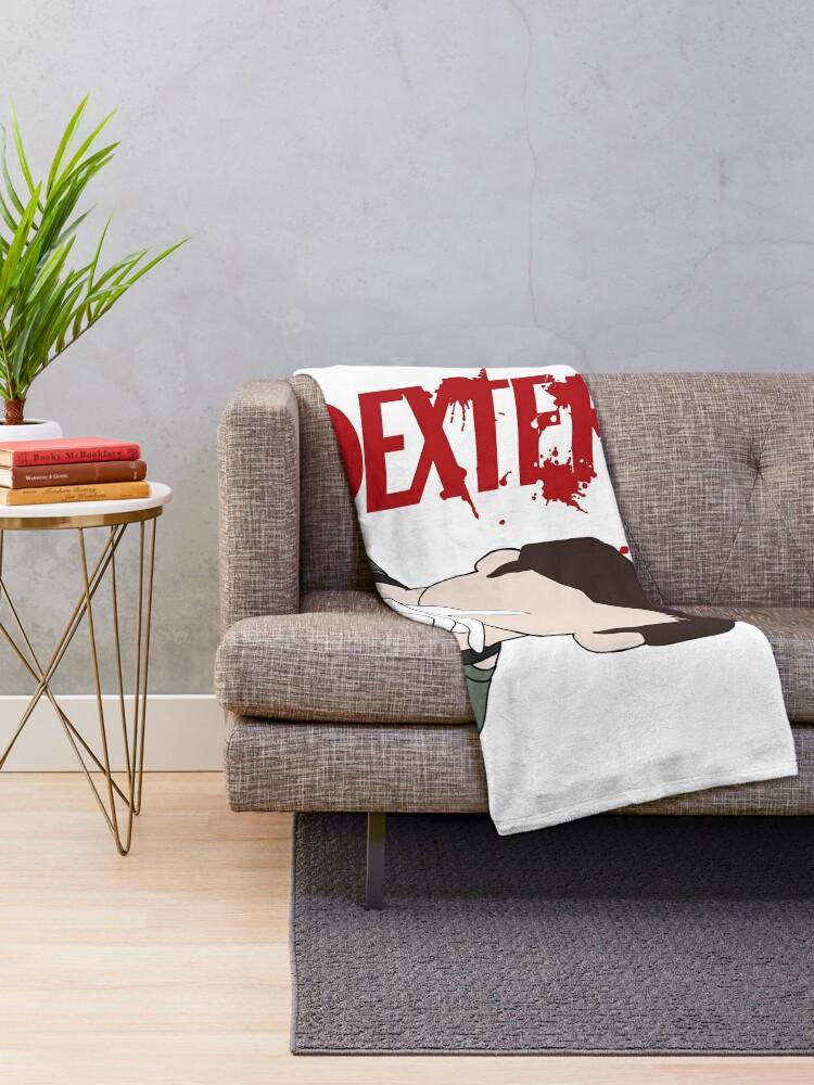Alternate view of Dexter Morgan Shhhh Throw Blanket