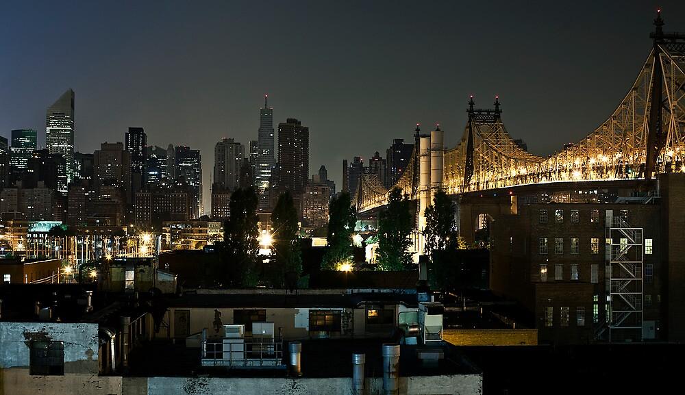 Manhattan from Queens. by Dustin Kukuk