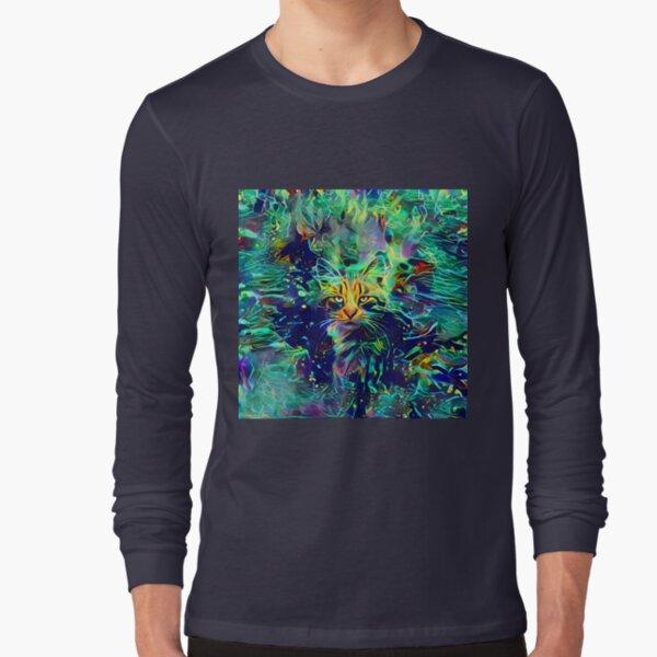Deep Style Cat Long Sleeve T-Shirt