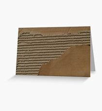 Ripped and Torn Cardboard Photograph Greeting Card