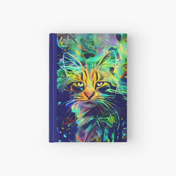 Deep Style Cat Hardcover Journal