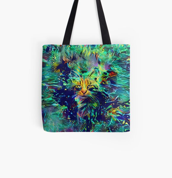 Deep Style Cat All Over Print Tote Bag