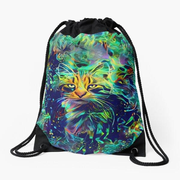 Deep Style Cat Drawstring Bag