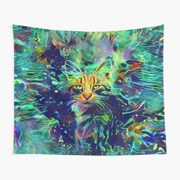 Deep Style Cat Tapestry