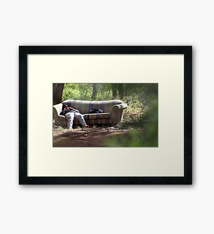 Lounge in the Woods Framed Print