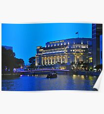 The Fullerton Hotel by night Poster