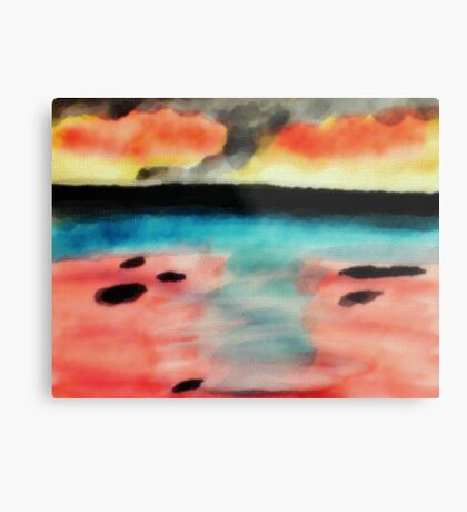 Abstract seascape, watercolor Metal Print