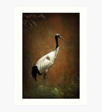 Bringer of luck - Japanese Crane Art Print