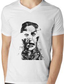 Burning Man Mens V-Neck T-Shirt