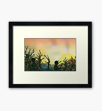 Beyond the Twisty Forest Framed Print