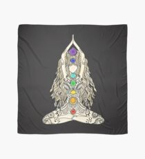 yoga lotus position namaste india sport meditation 7 chakras om spiritual Scarf