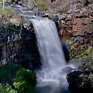 Paddys River Falls, Rainbow on the Side #2 by bazcelt