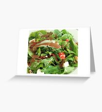 Spinach salad Greeting Card
