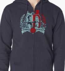 Fringe Division Crest  Zipped Hoodie