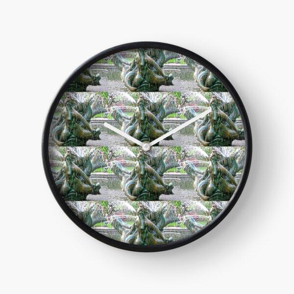 London Architectural Detail 10: Regent's Park Triton Fountain, London Clock