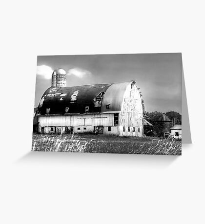 Grand Old White Barn  Greeting Card