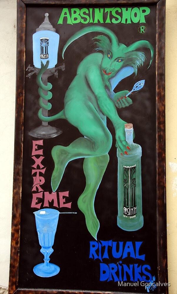 Absinth's devil by Manuel Gonçalves