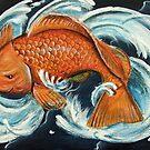 Koi Carp Oriental Tattoo Style by Lee Twigger