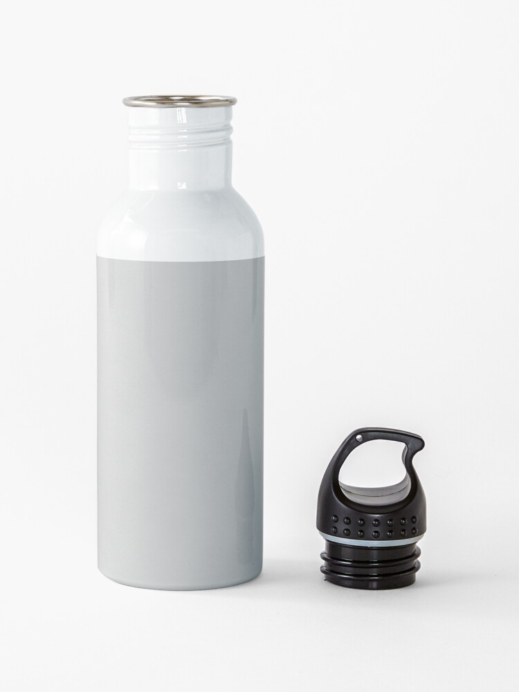 Alternate view of Solid Christmas Silver Water Bottle
