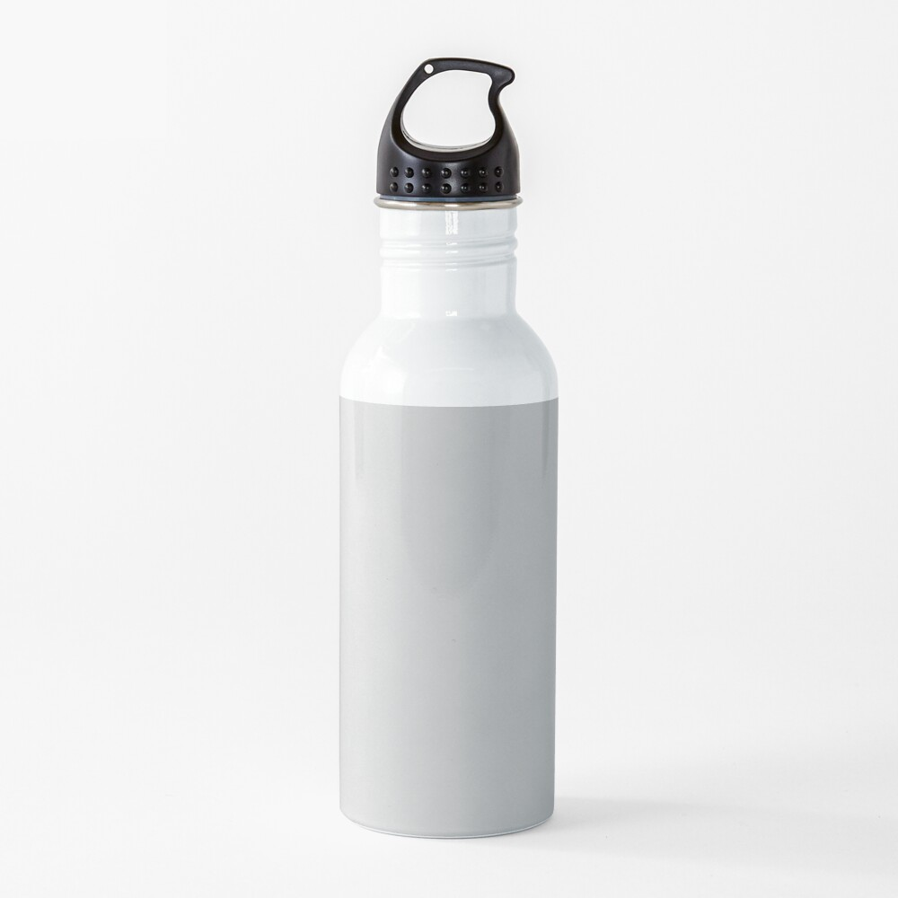 Solid Christmas Silver Water Bottle