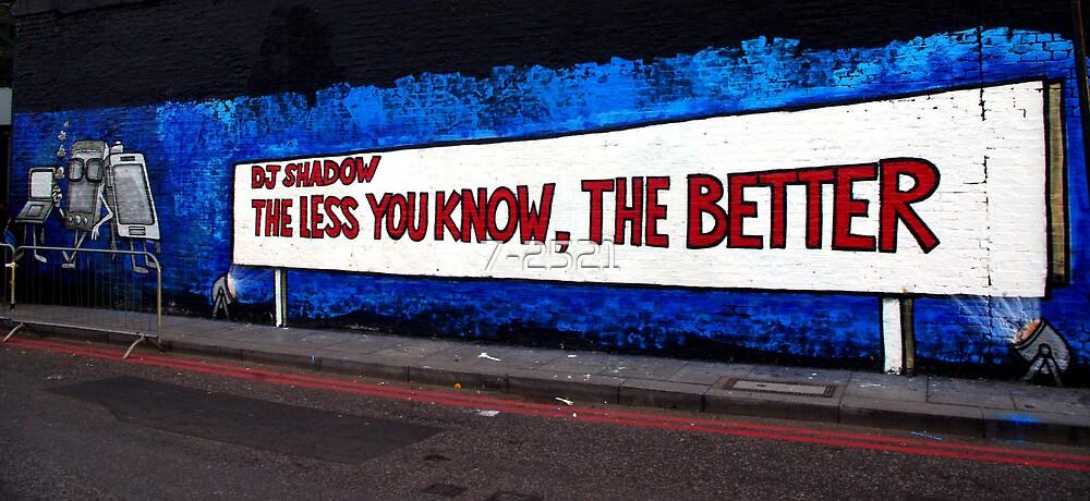 DJ Shadow Street art by 7-2521