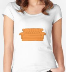 Friends couch Women's Fitted Scoop T-Shirt