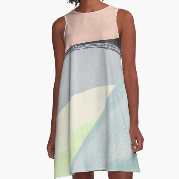 Modern Minimalist Abstract A-Line Dress