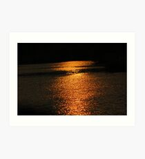 Sunset On Golden Pond  Art Print